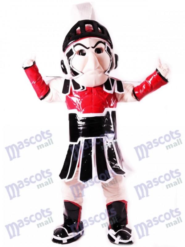 Red Spartan Trojan Ritter Sparty Maskottchen Kostüm Menschen