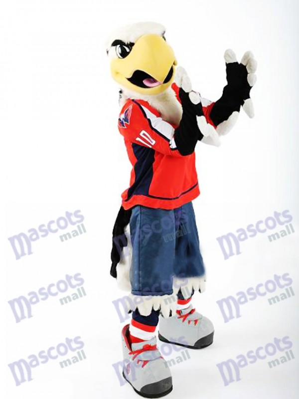 Slapshot der Washington Capitals Bald Eagle Maskottchen Kostüm Tier