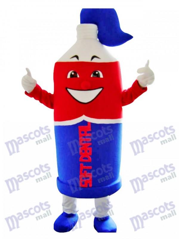 Rote und blaue Zahnpasta Maskottchen Kostüm Förderung