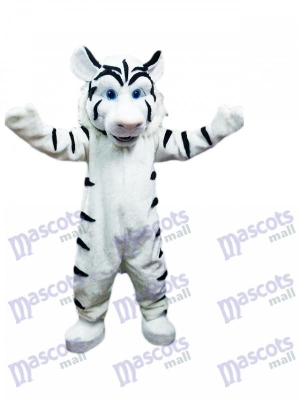 Weißes Tiger Maskottchen Kostüm Tier