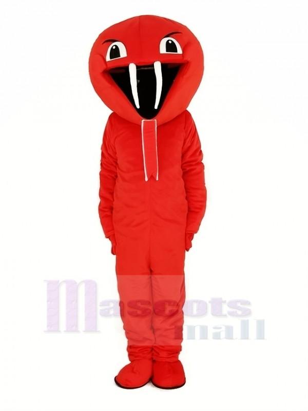 rot Kobra Schlange Maskottchen Kostüm Tier