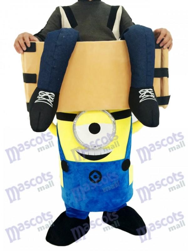 Verabscheuungswürdige mich Piggyback Minions tragen mich auf einem Auge Minions Maskottchen Kostüm