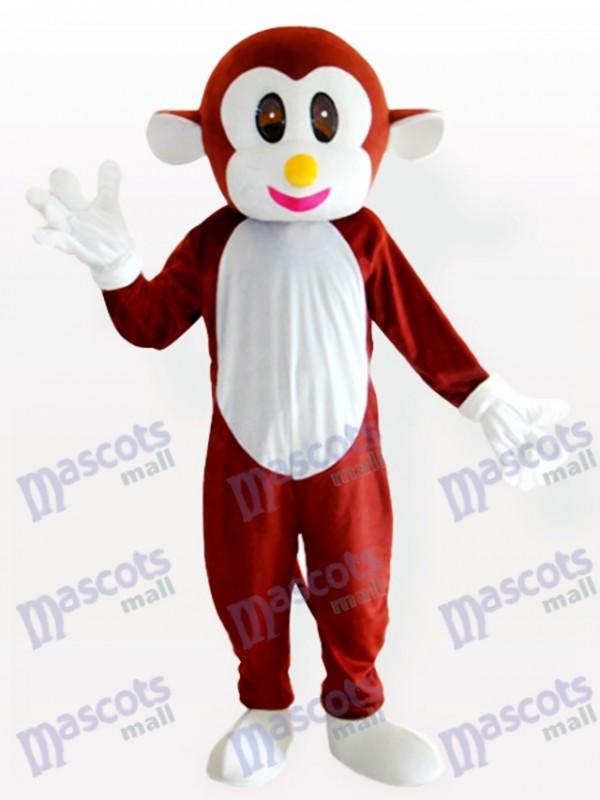 Springendes Affe braunes Tier Maskottchen Kostüm