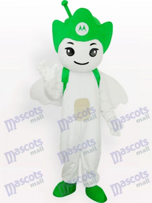 Grünes Moto Angel Party Maskottchen Kostüm für Erwachsene