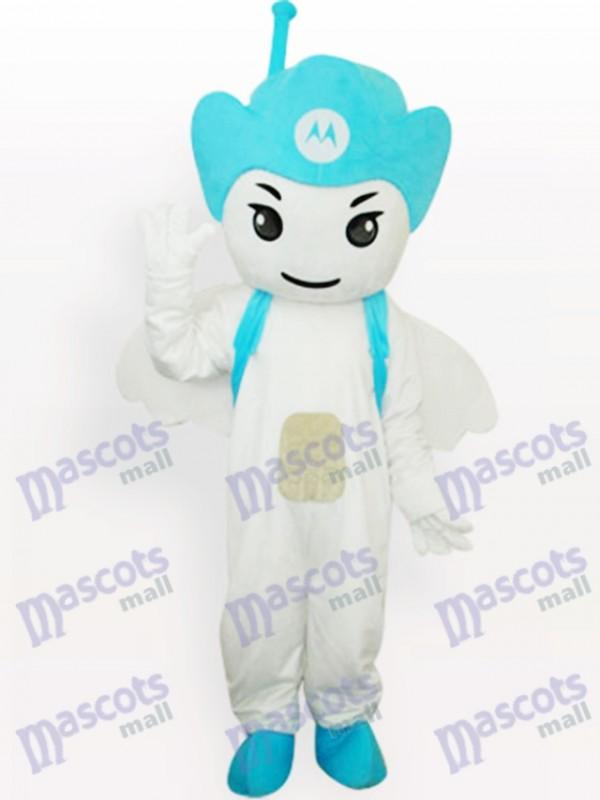 Blau Moto Engel Party Maskottchen Kostüm für Erwachsene