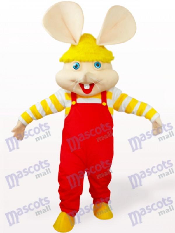 Rotes großes Gesicht Maus Tier Maskottchen Kostüm