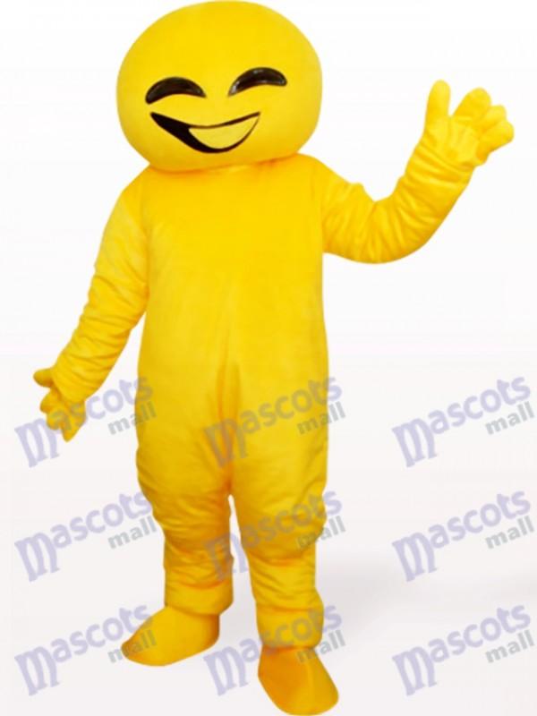 Gelbe Puppe Tier Erwachsene Maskottchen Kostüm