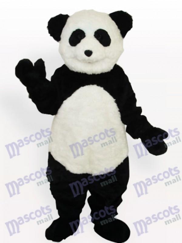 Lächelndes Panda langes Tier erwachsenes Maskottchen Kostüm