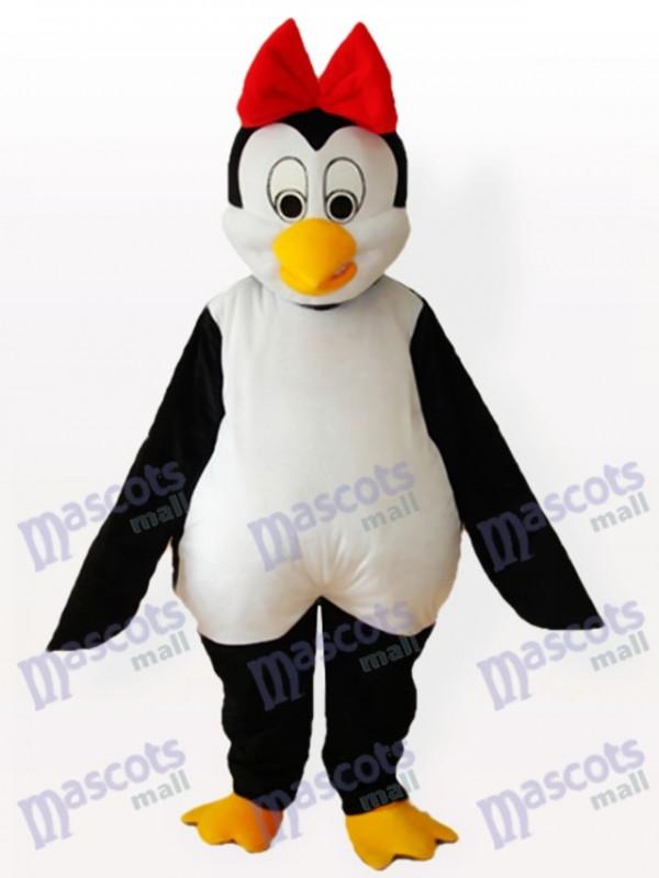 Cutie Pinguin mit rotem Bowknot auf dem Kopf Adult Maskottchen Kostüm
