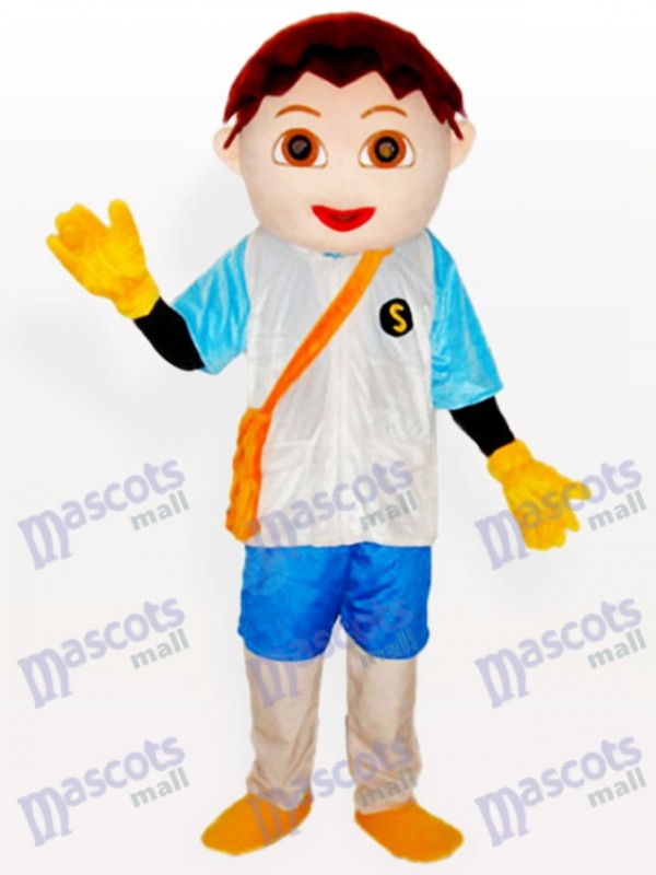 Diego kleiner Jungen Karikatur erwachsenes Maskottchen Kostüm