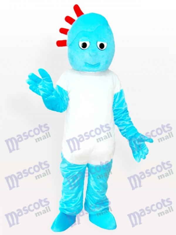 Freches Junge Karikatur erwachsenes Maskottchen Kostüm