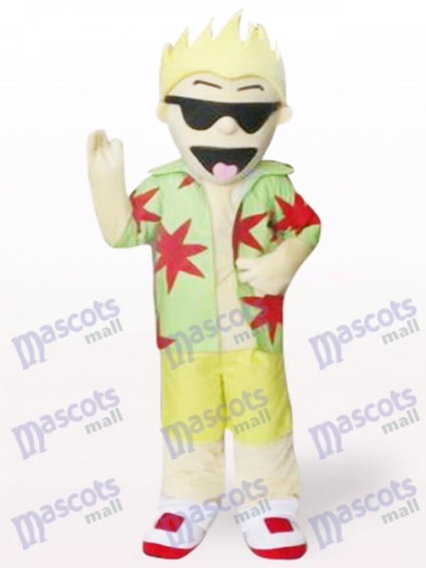 Coole Sonnenbrille Junge Cartoon Adult Maskottchen Kostüm