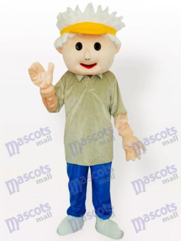 Golf Junge Maskottchen Kostüm für Erwachsene