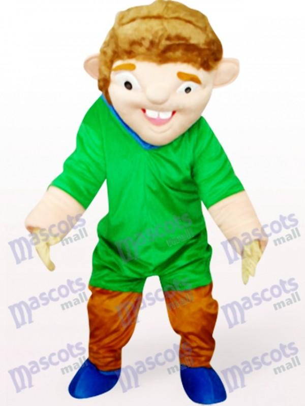 Grüne seltsamen Mann In roter Kleidung Maskottchen kostüm