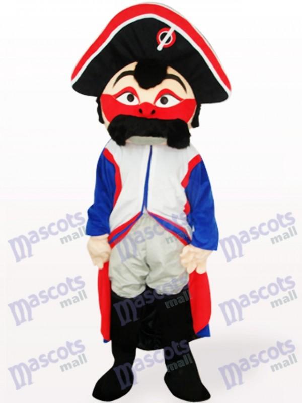 Rotes Gesicht Piraten Maskottchen Kostüm für Erwachsene