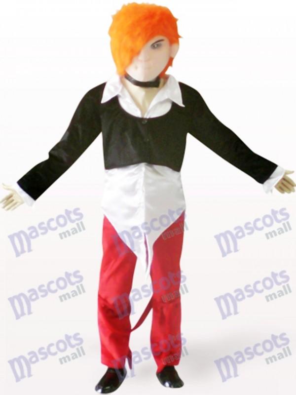 Hübscher Junge Cartoon Adult Maskottchen Kostüm