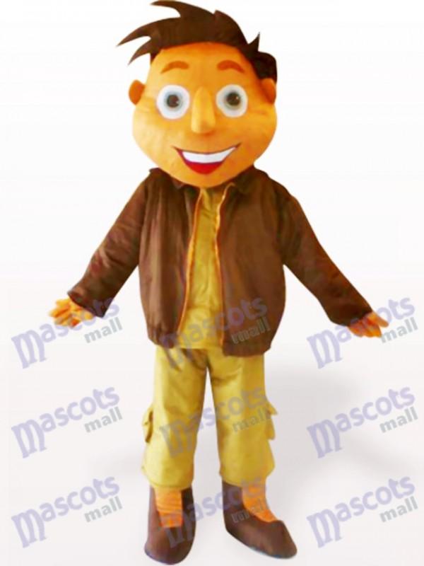 Jacken Jungen Karikatur erwachsene Maskottchen Kostüm
