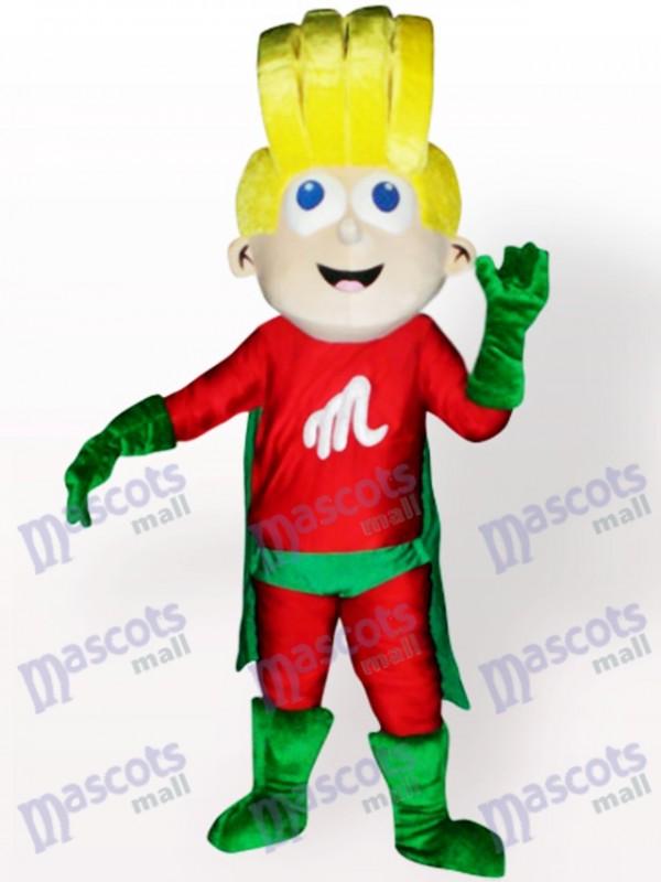 Super Junge Cartoon Maskottchen Kostüm für Erwachsene