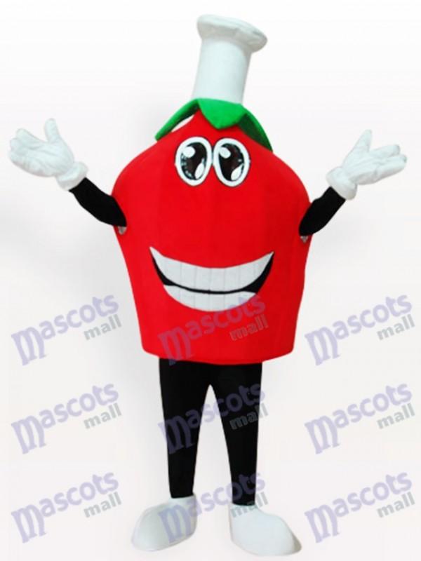 Rotes Erdbeerkurzes Frucht Maskottchen Kostüm