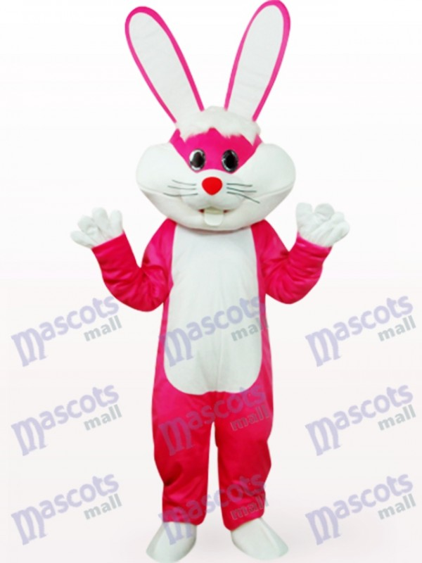 Osterhase in Rose Kleidung Tier Maskottchen Kostüm