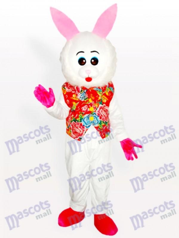Ostern liebenswert Osterhase in floralen Weste Adult Maskottchen Kostüm