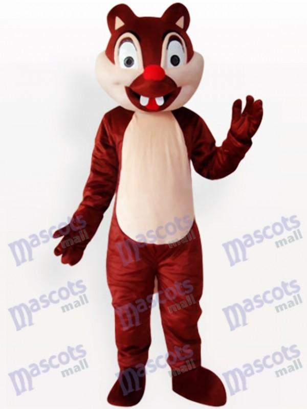 Zwei Zähne Eichhörnchen Tier Maskottchen Kostüm