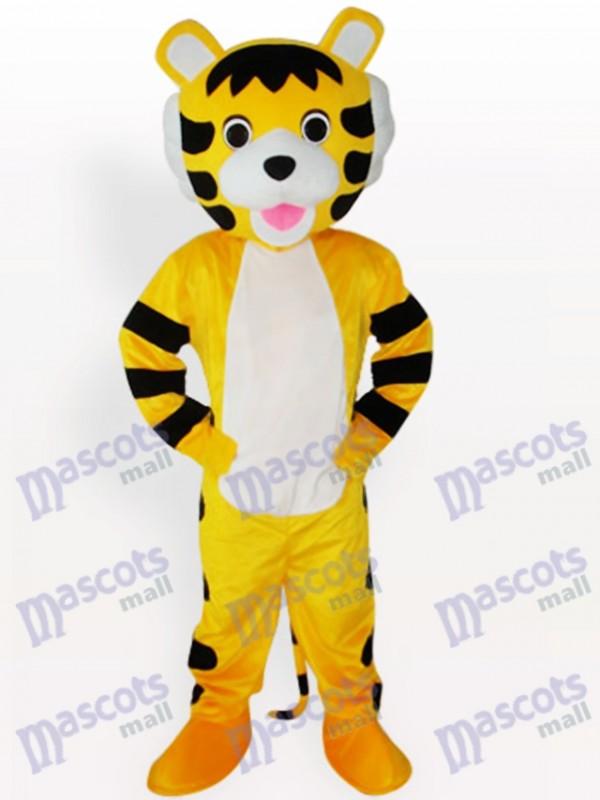 Kleiner Tiger Kurzes Plüsch Maskottchen Kostüm für Erwachsene