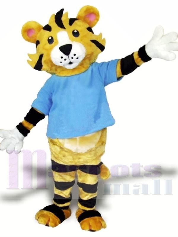 Weiterführende Schule Tiger Maskottchen Kostüm Kostenloser Versand