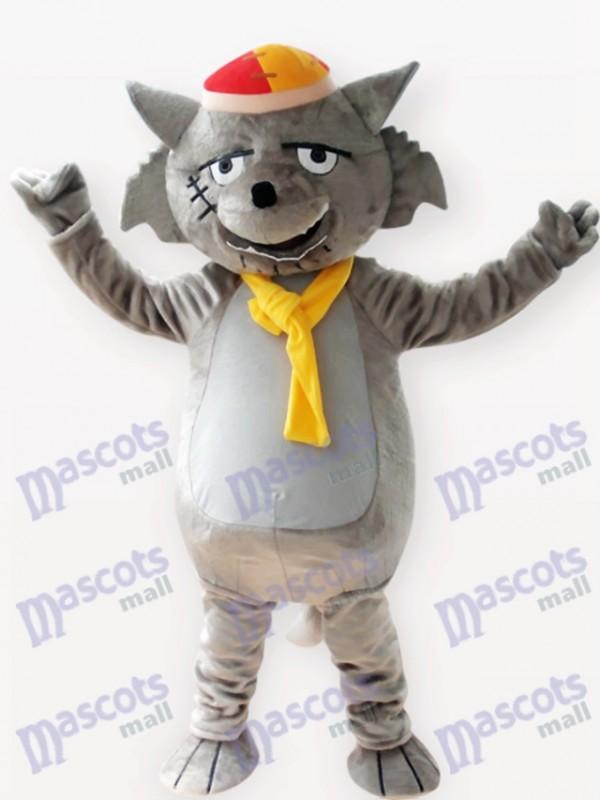 Grey Wolf Tier Maskottchen Kostüm für Erwachsene