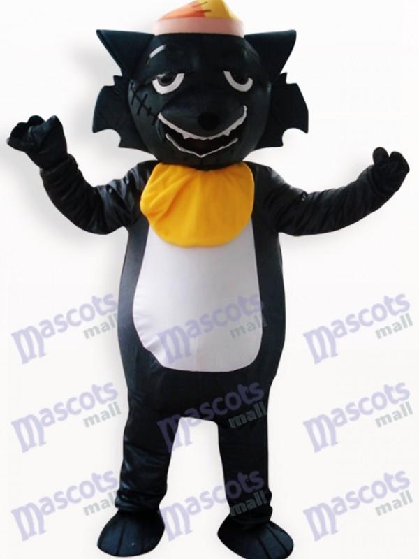 Schwarzer Wolf Tier Maskottchen Kostüm
