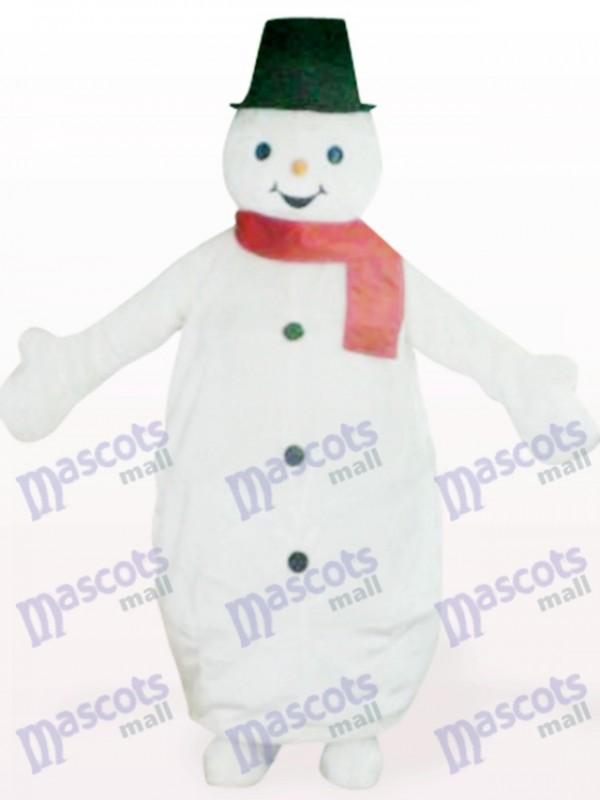 Schwarzen Hut Schneemann tierische Weihnachten Xmas Maskottchen Kostüm
